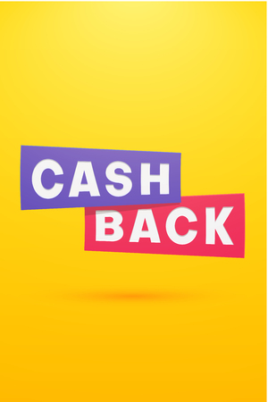 Money cashback yellow paper poster. Vector background. 일러스트