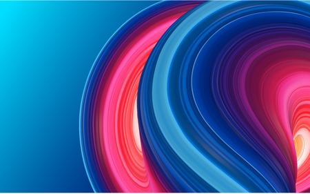 Fond bleu avec un dessin abstrait de coup de pinceau coloré. Modèle créatif pour invitation, carte de visite. Gouache, aquarelle, peinture acrylique. Illustration vectorielle. Vecteurs