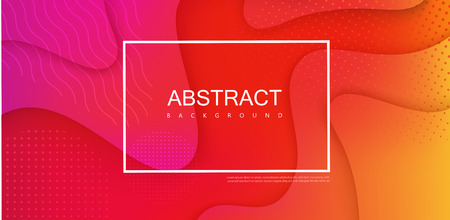Red spectrum template with white frame and abstract geometric pattern. Creative solution for invitation, booklet or presentation design. Vector paper background.