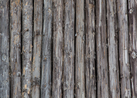 joist: Old logs, ethnic wall of the house.