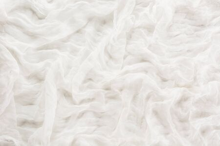 repetitive: White background from textile. Texture, abstract pattern. Top view. Stock Photo