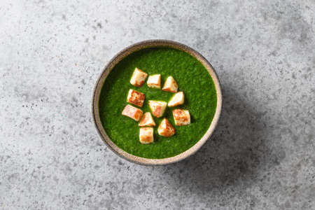 Palak Paneer made of spinach and paneer cheese. Indian cuisine. Reklamní fotografie