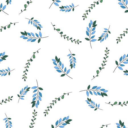 Motif floral romantique vectorielle continue