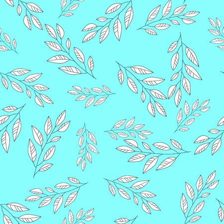 Floral seamless pattern in pastel. Color leaf vector illustration