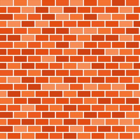 Brown brick wall background - Vector Ilustracje wektorowe