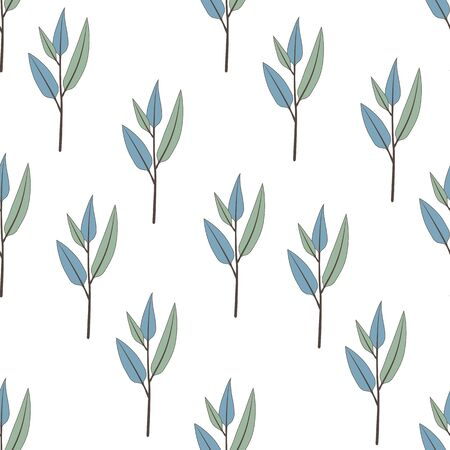Beautiful and elegant flowers buds on the white background. Vector seamless pattern with flowers. 向量圖像