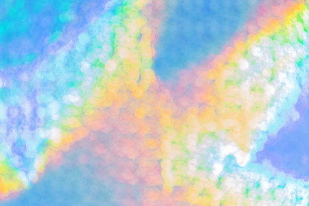 Background multicolored abstract rainbow blue holographic bright with a gradient shining with the effect of a bohemian of yellow and cyan color Banco de Imagens