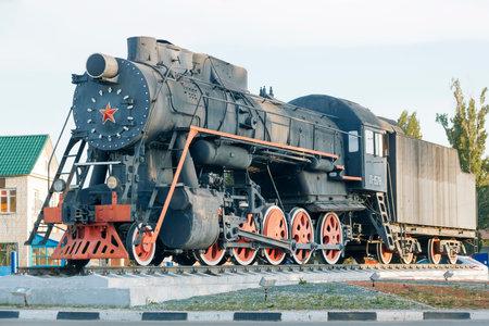 Engels, Saratov region, Russia - 08242019: Monument to trains 報道画像