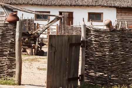 dwelling: Ethnic Association - cossack village. Dwelling Cossacks - a hut Stock Photo