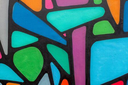 Abstracte mooie kleurrijke de graffititest van de straatkunst close-up. Moderne iconische stedelijke cultuur van de jeugd. Detail. Kan handig zijn voor achtergronden