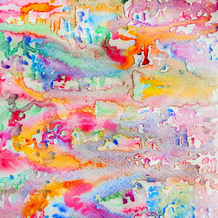 Abstract watercolor of faery colors background painting with spray, spots, splashes. Hand drawn on paper grain texture. For modern design Фото со стока