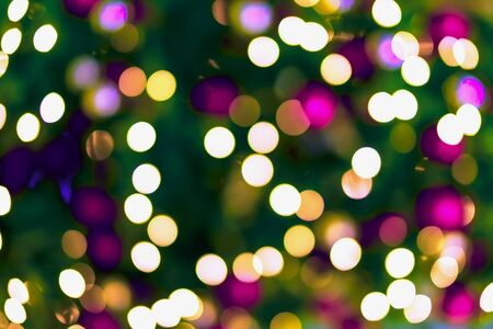 Abstract colorful bokeh design, holiday background, multicolored effect. Festive occasions concept, holiday, Christmas, New Year backdrop Imagens - 129626178