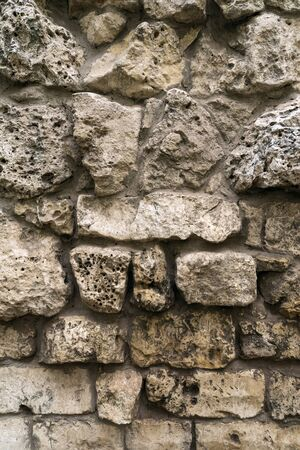 Abstract historic stone wall, vintage background, texture, closeup