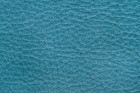 Texture of genuine leather, blue color, background, surface. Manufacturing and leather industry concept, background, backdrop, copy space Standard-Bild