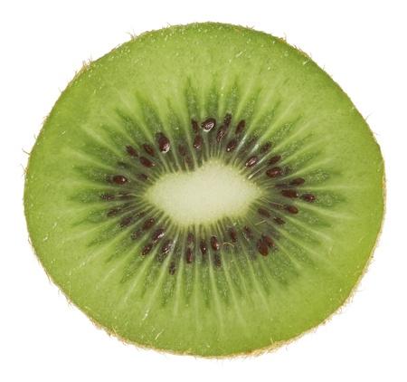 Green kiwi isolated on a white background Zdjęcie Seryjne
