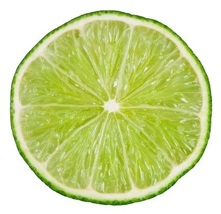 Lime isolated on white background with clipping path Stock Photo