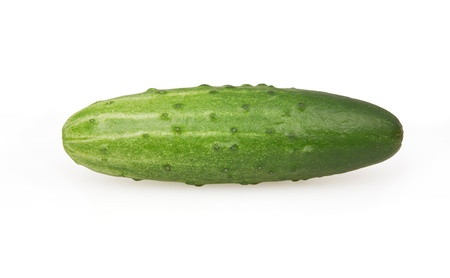 Cucumber isolated on white background with clipping path