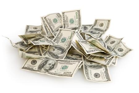 アメリカの 100 ドル紙幣の背景