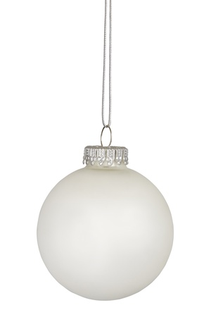 White christmas bauble isolated on white background