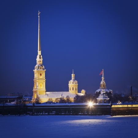 Peter and Paul Fortress. Neva river. Saint-Petersburg. Russia Stock Photo