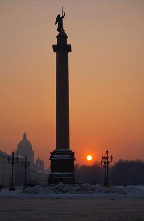 Alexandrine column. Saint-Petersburg. Russia