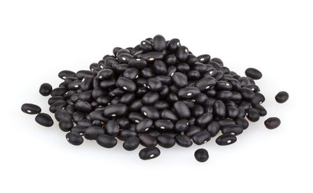 黒豆は、白い背景で隔離 写真素材