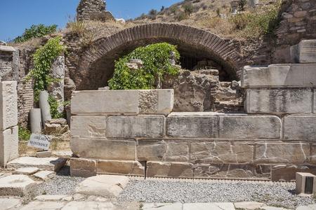 Ruins of the ancient Ephesus. Selcuk in Izmir Province, Turkey Stock Photo