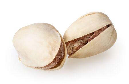 Roasted pistachiod isolated on white background