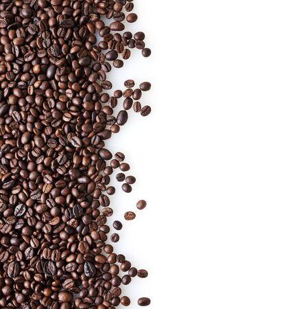 Roasted coffee beans background with copy space Zdjęcie Seryjne