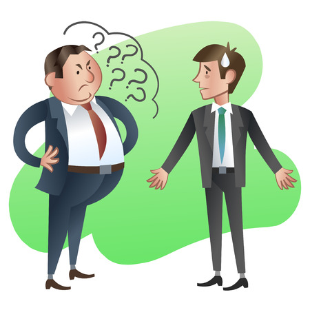 subordinate: Boss or Manager asks a subordinate employee.