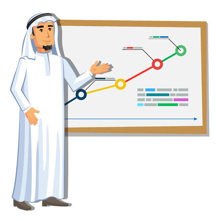 Cartoon Arabic man character image. Vector illustration Vectores