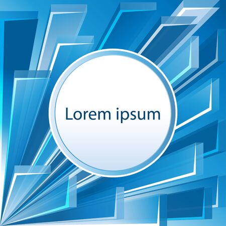 complex system: Blue abstract background.Vector Illustration