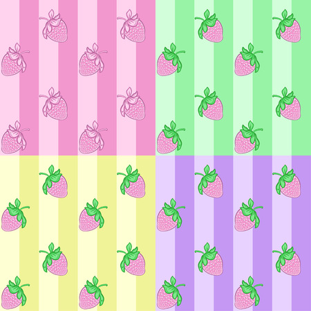 layout strawberry: Seamless pattern with strawberries.Vector illustration Illustration