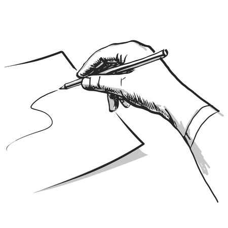 hand pen: Hand draws. Vector illustration