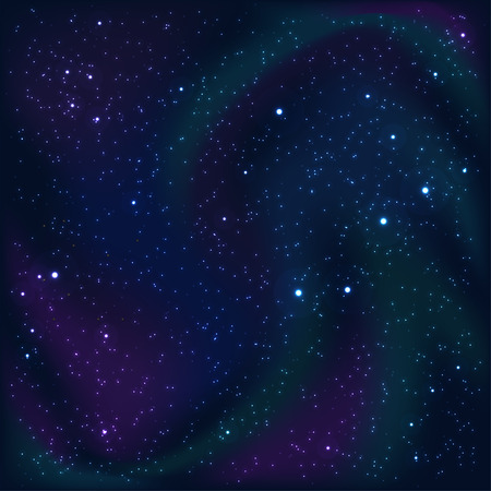 astral: Cosmic abstract background with stars and nebulas. Vector Illustration Illustration