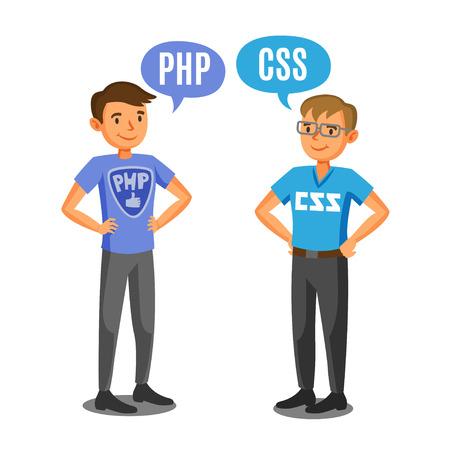 programmers: Programmers, developers, process coding, teamwork. Communication concept
