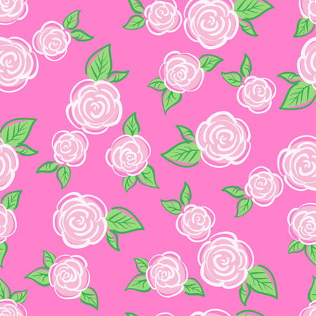 english rose: Vector Seamless Vintage Flower pattern. Can be used for background, textile pattern, scrapbooking
