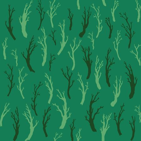 formal garden: Seamless pattern with branches, hand drawn branches. Can be used for wallpaper, pattern fills, web page background, surface textures