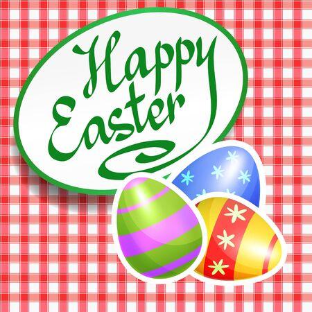 cartoon egg: Colorful Easter eggs for Easter holidays design. Easter eggs on Easter seamless pattern. Easter vector poster