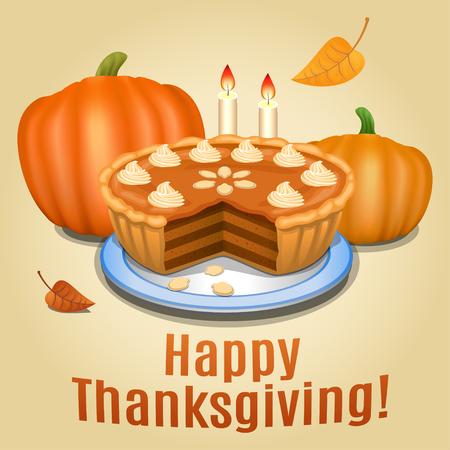 creme: Pumpkin pie with white creme and orange pumpkin, pumpkin pie for Thanksgiving.