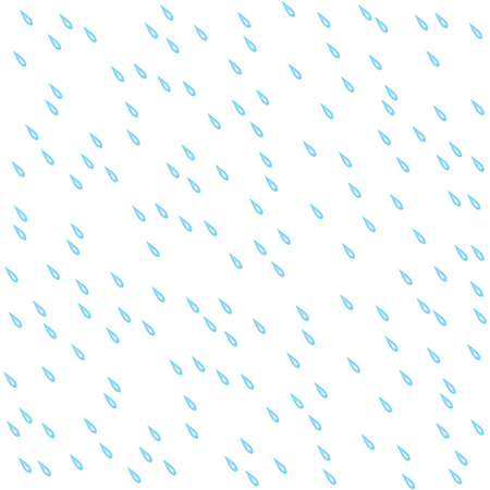 Seamless pattern with rain drops. Water drops isolated on white background. Vector illustration Illustration