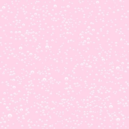 Vector Seamless pattern of pink milk shake bubbles. Vector illustration