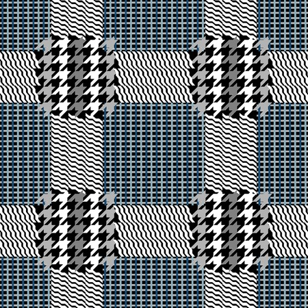 Classical English hounds tooth print. Retro textile design collection. Vettoriali