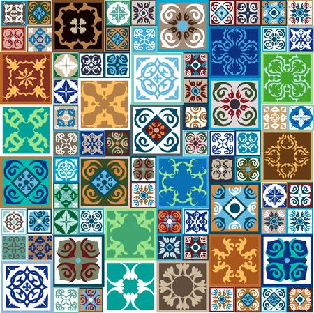 Bunte VintageFliesen Mit Floralen Und Geometrischen Mustern - Fliesen auf türkisch