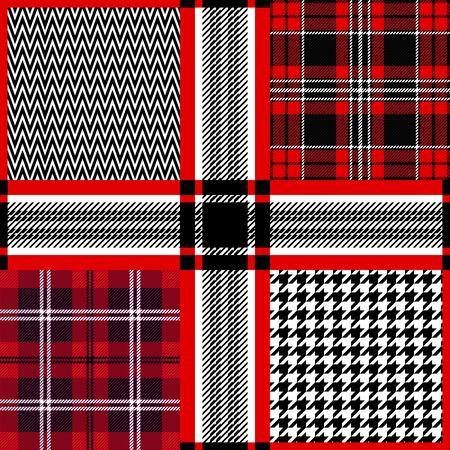 napkins: Retro textile design collection. Pattern for shirts, coats, napkins.