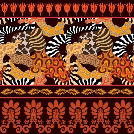 zebra skin: Safari textile collection. Zebra and leopard spots Illustration