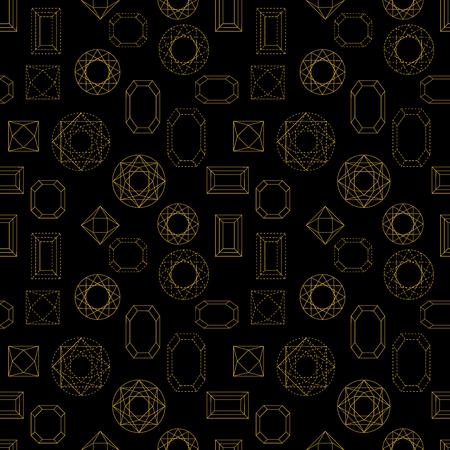 diamond shaped: Art Deco 1920s-1930s motifs. Chaotic movement. Black, white.