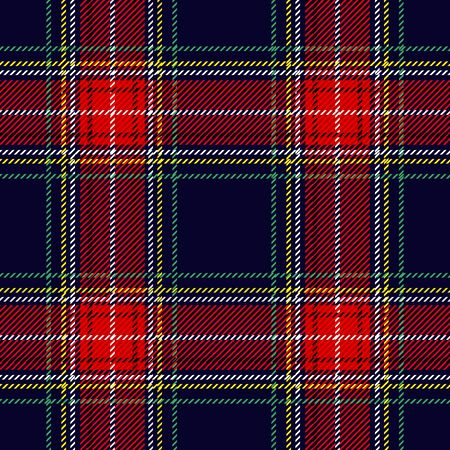 Retro textile design collection. Traditional tartan print.