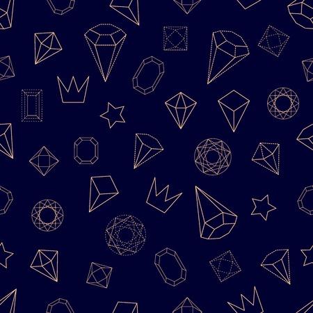 diamond shaped: 1980s-1990s Memphis style motifs. Retro design collection. Illustration
