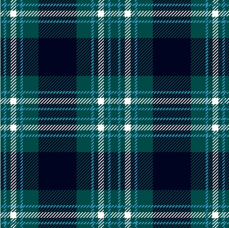 Seamless Scottish plaid. Checkered vector textile pattern.